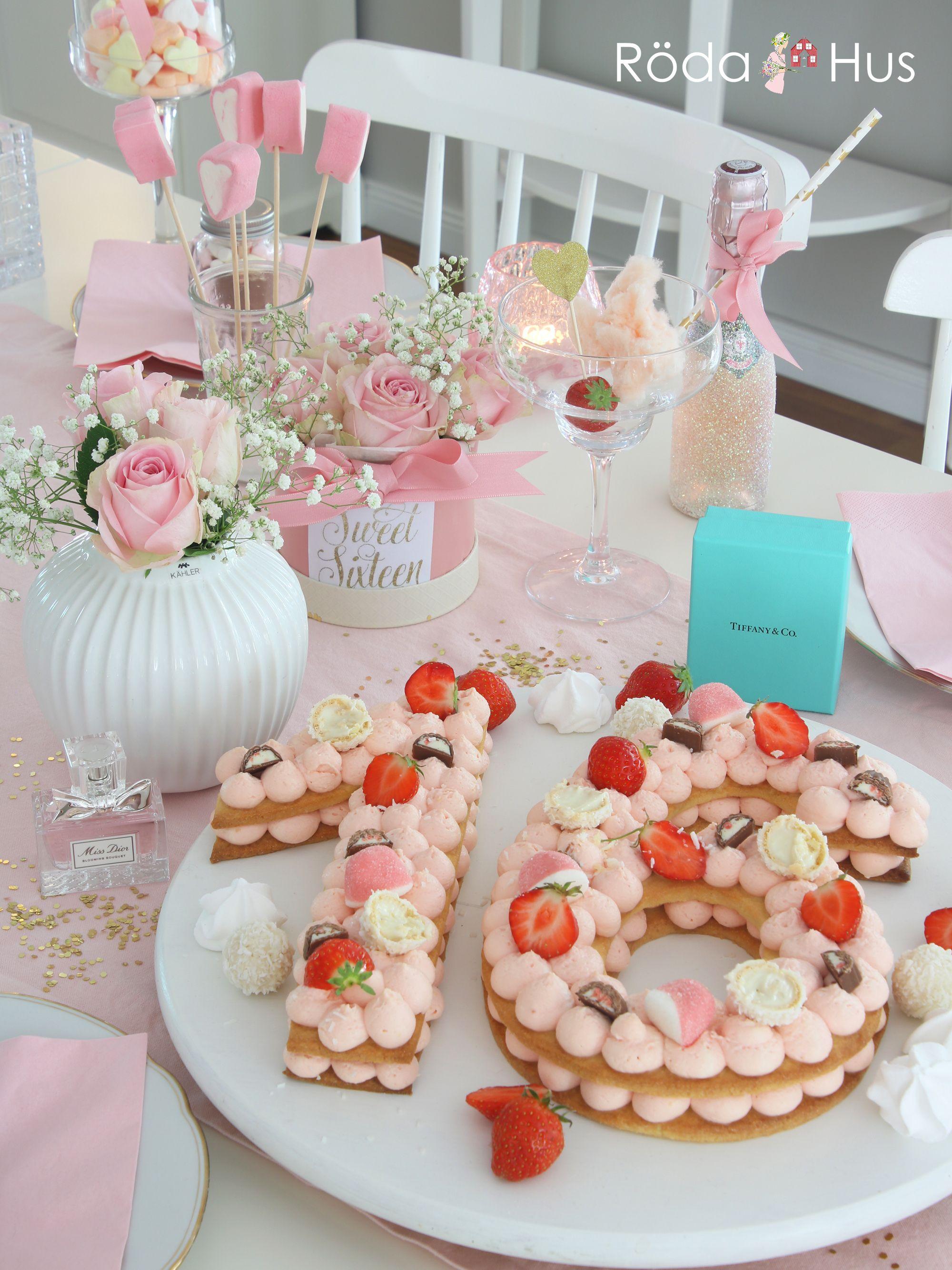 Sweet Sixteen Party Mit Candy Number Cake Einer Diy Flowerbox Sweet Sixteen Sweet 16 Kuchen Anzahl Kuchen