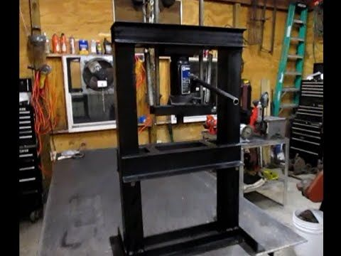 Homemade Hydraulic Press Youtube Shop Press Metal