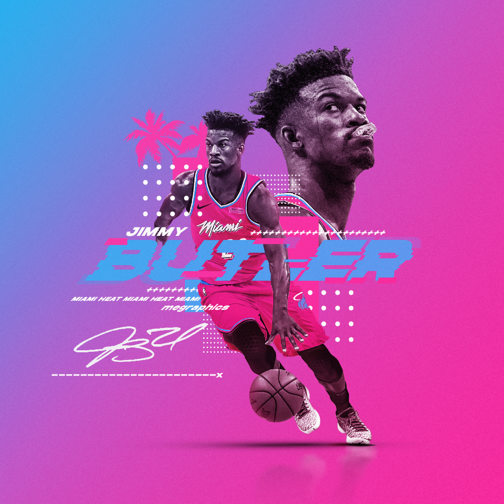 Jimmy Butler Miami Heat Graphic Personal On Behance Miami Heat Miami Sports Graphic Design