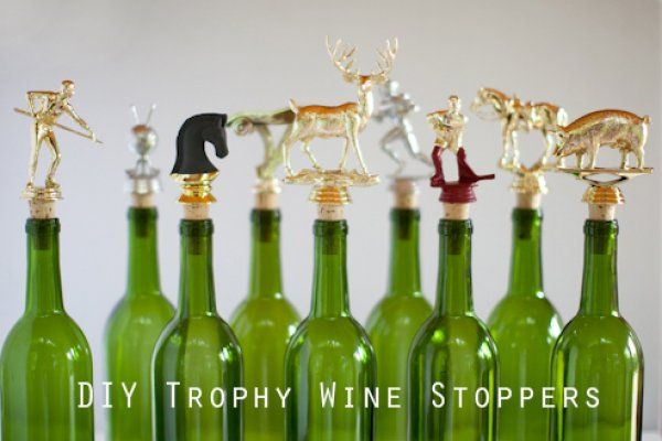DIY trophy wine stoppers, by Get Married