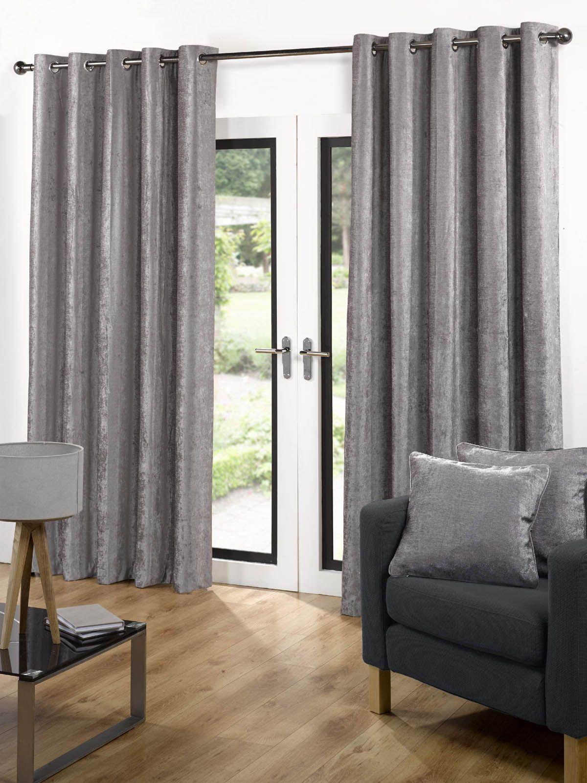 Velvet Ready Made Eyelet Curtains Grey Uk Delivery In 2020 Ready Made Eyelet Curtains Grey Curtains Velvet Curtains