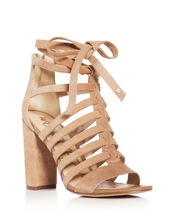 Sam Edelman Yarina Caged Ankle Tie High Heel Sandals