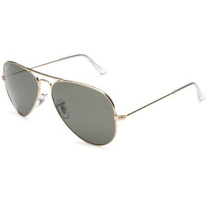 Black Friday Ray-Ban Aviator Large Metal Sunglasses 58 mm, Polarized,  Arista Gold Polarized Crystal Green from Ray-Ban Cyber Monday 1a7856d3b1f4