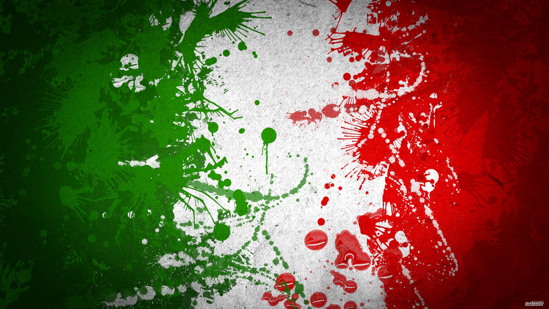 Italia Flag Art Bandiera Dell Italia Astratto