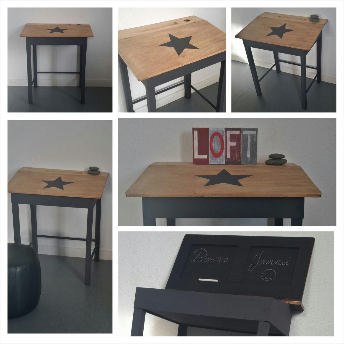 un bureau d colier au relooking industriel petits bureaux pas bien et je les aime. Black Bedroom Furniture Sets. Home Design Ideas