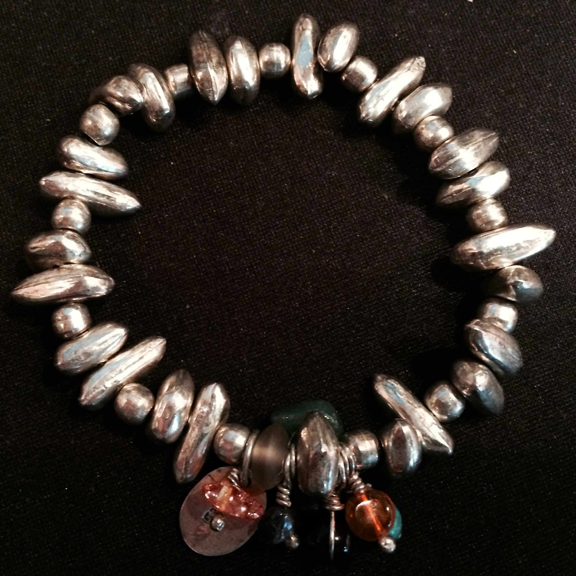 Rewards for supporting Eva Nepal make great gifts - how about a silver bead stretch bracelet? http://c-fund.us/83f
