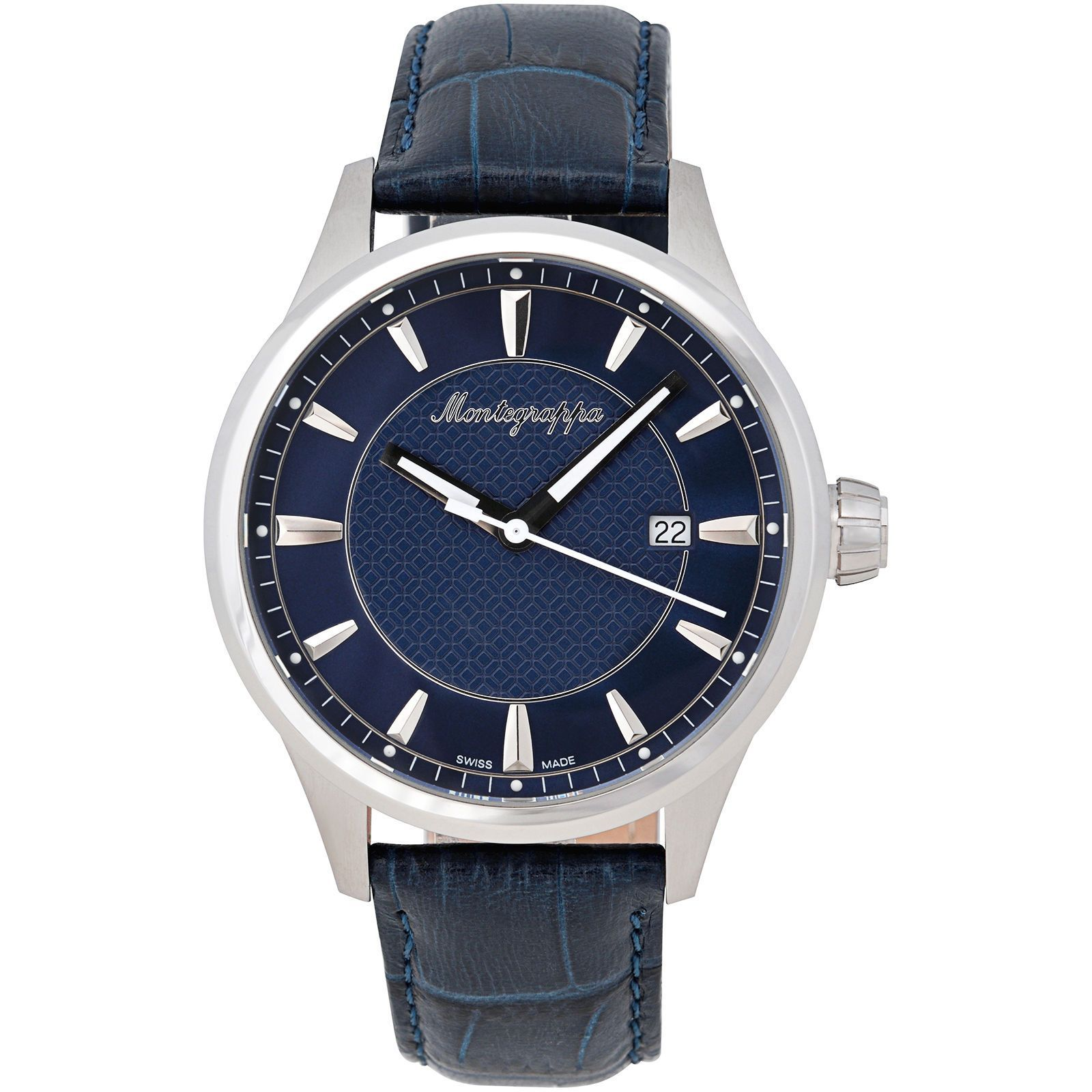 Montegrappa Fortuna Steel Watch Men\'s Watch Swiss Made IDFOWADD ...