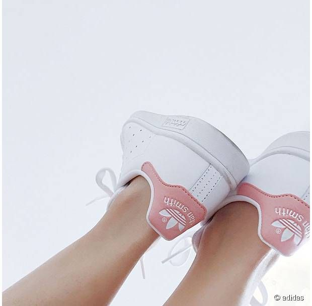 adidas stan smith rose pale et blanche