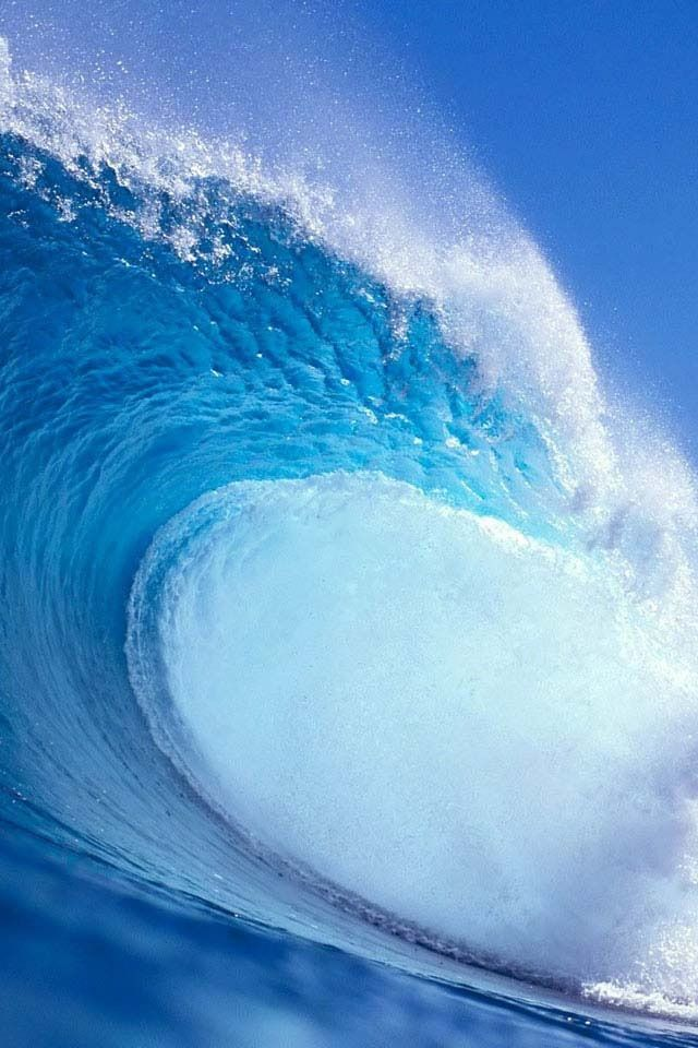Big Wave Of Bummed Coming Surfing Waves Waves Waves Wallpaper