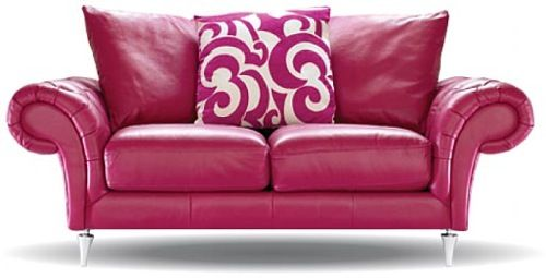 pink furniture | An Rainbow Indoors: 10 Colored Leather Couches ...