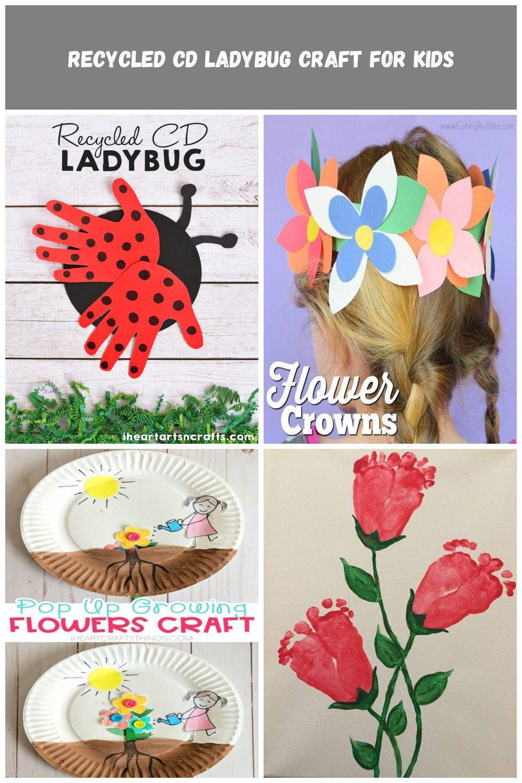 Recycled CD Ladybug Craft For Kids #spring crafts Recycled CD Ladybug Craft For Kids #recycledcd
