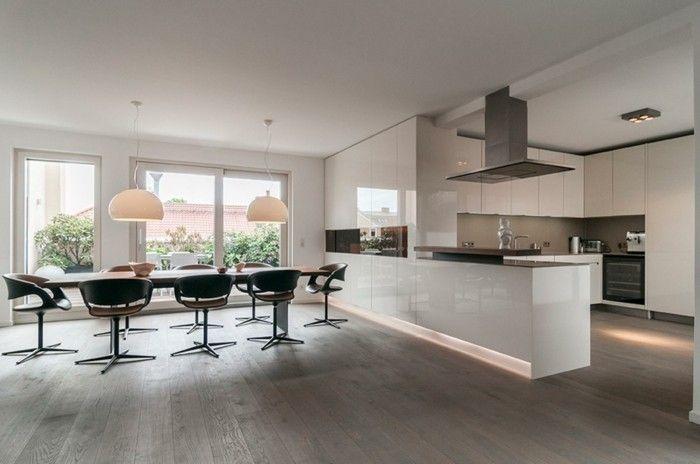 Offene Küche dank Kontraste modern und einmalig gestalten Luxury
