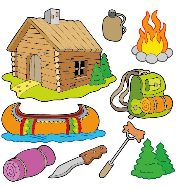 Camping cartoon-02 vector | Free Vectors, Free Design | CLIPART ...