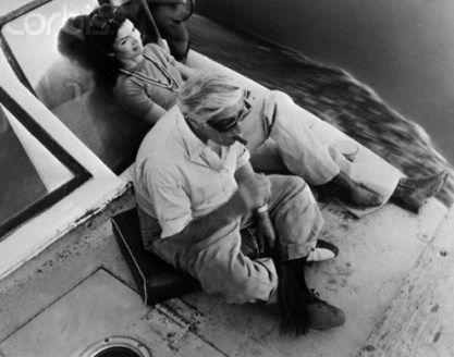 Ari and Jackie Onassis enjoy a cruise down the Nile, 1974.