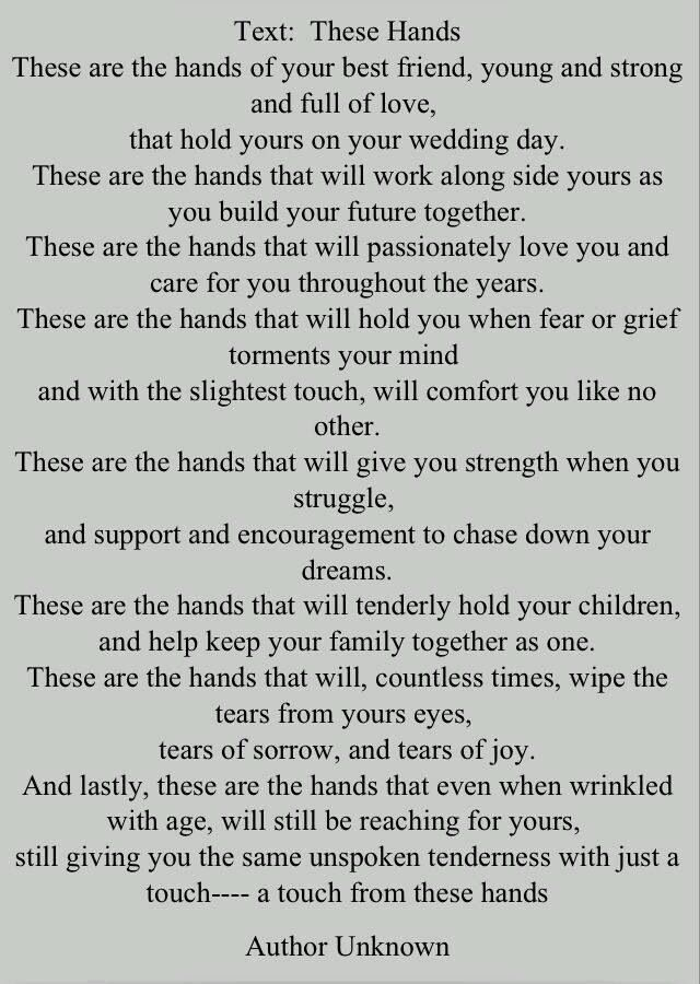 These Hands Poem Wedding Vows That Make You Cry Best Wedding Vows Wedding Poems