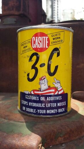 Casite engine additive | hey   nice CANS !!! | Vintage oil cans, Old