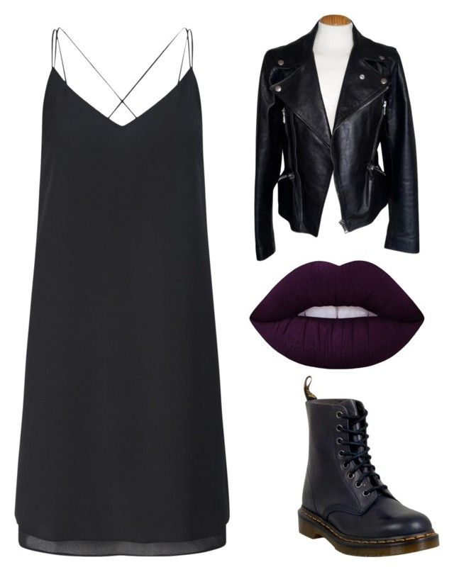 """""""Без названия #1"""" by maria-armstrong228 ❤ liked on Polyvore featuring Miss Selfridge, Alexander McQueen, Lime Crime and Dr. Martens"""