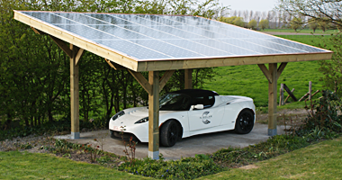 The Epitome Of How I Want To Live A Solar Carport And An Electric Car I Want A Tesla Model X Solar Panels Solar Carport