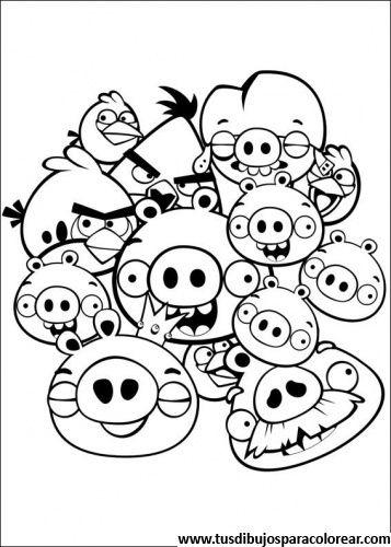 Angry Birds Para Colorear Dibujos Para Colorear Bird Coloring