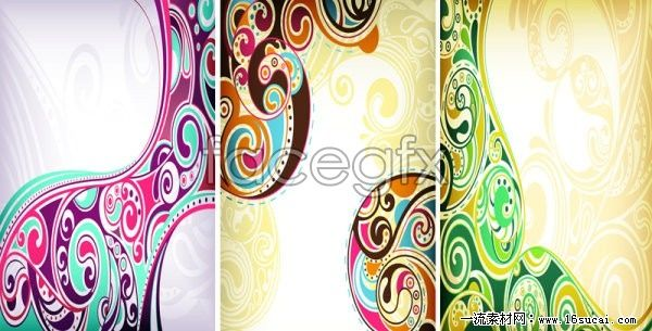 4 continental background pattern vector