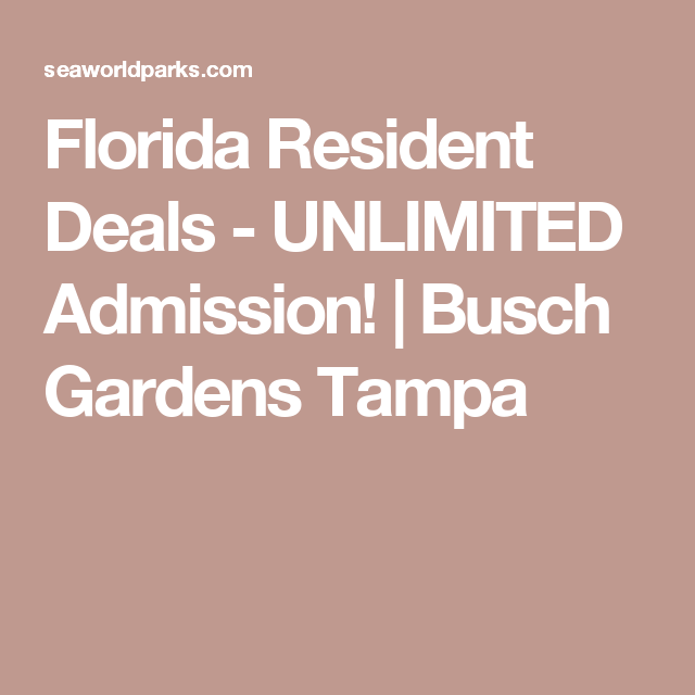 Elegant Florida Resident Deals   UNLIMITED Admission! | Busch Gardens Tampa Amazing Pictures