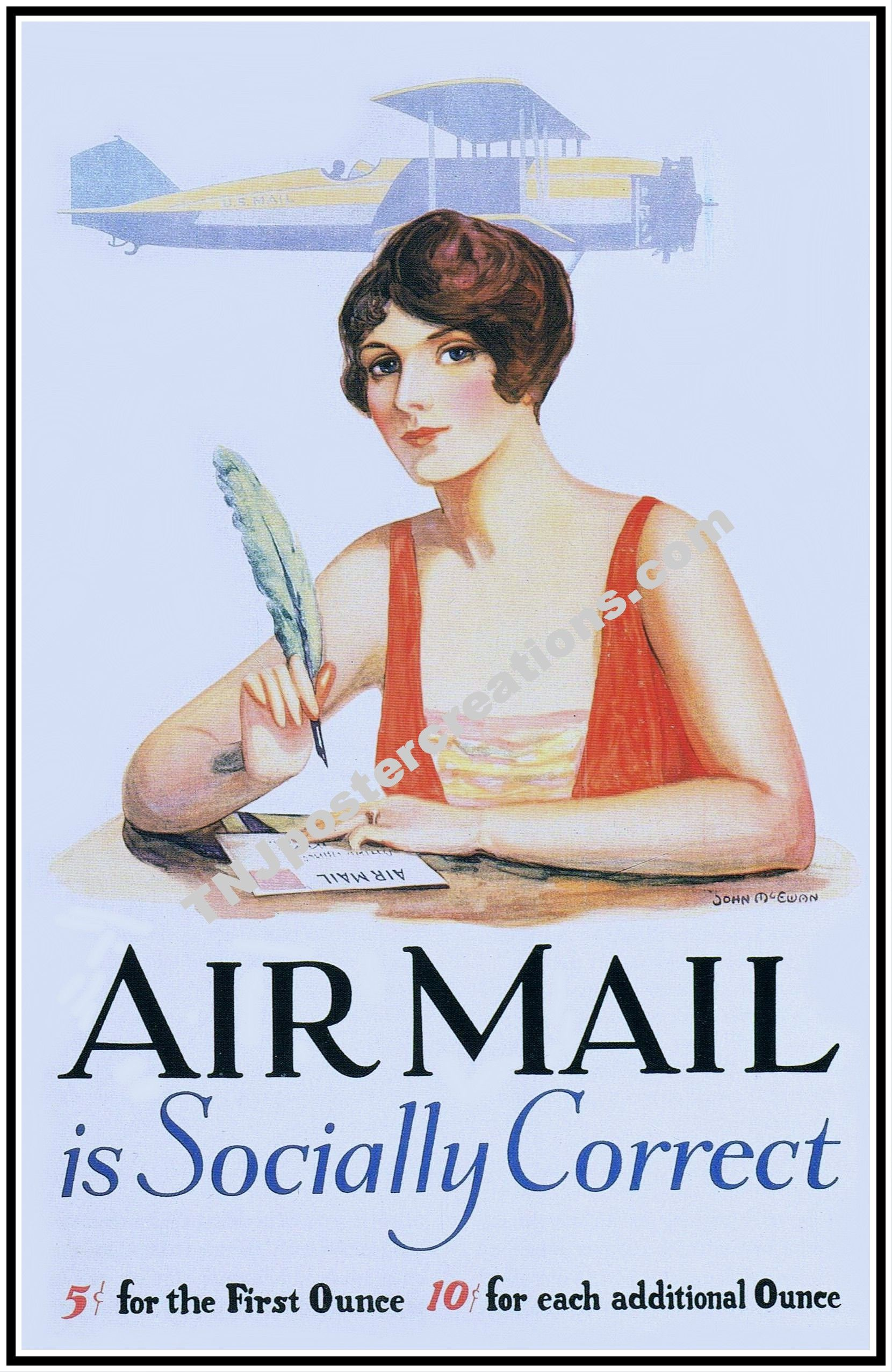 Airmail Postage ad poster Vintage posters, Advertenties