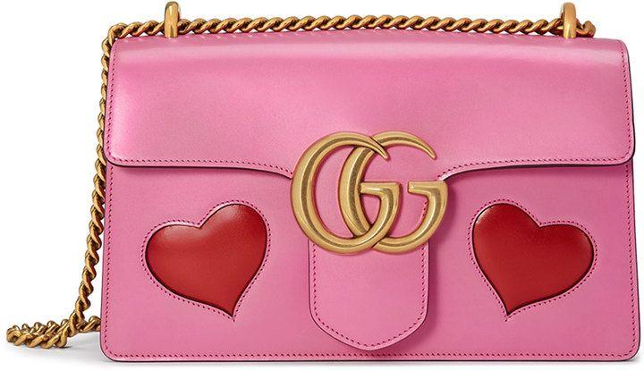 a2e33fd16ce Gucci GG Marmont Medium Heart Shoulder Bag