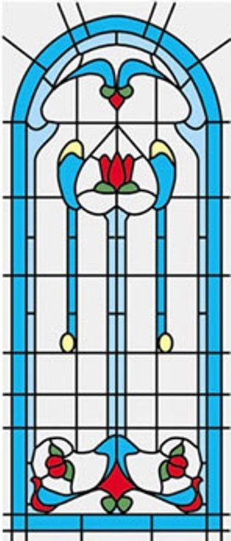 Dollhouse 1//12 Scale Classics Simulated Leadlight Stained Glass Window Insert 25