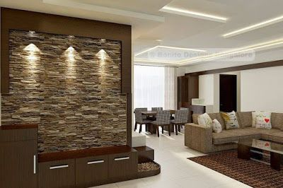 Stacked Stone Wall Decoration Ideas