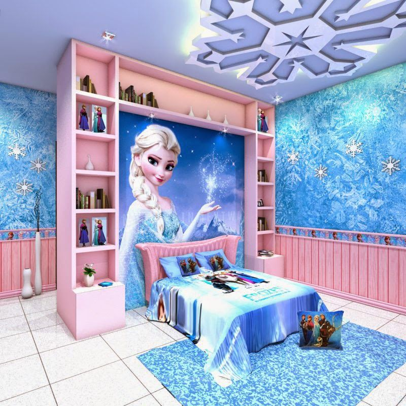 Frozen bedroom google search decoraci n pinterest for Cuartos para ninas frozen