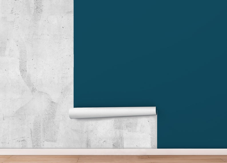 Peel And Stick Wallpaper Blue Green Solid Color Home Decor Etsy In 2020 Peel And Stick Wallpaper Wallpaper Panels Self Adhesive Wallpaper
