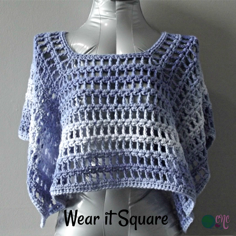 Free crochet pattern for the Simple Summer Poncho using Red Heart ...