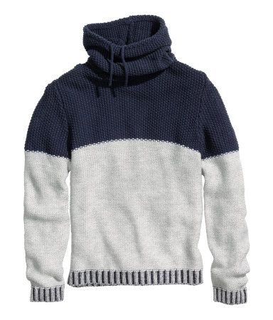 Chimney Collar Sweatshirt H M