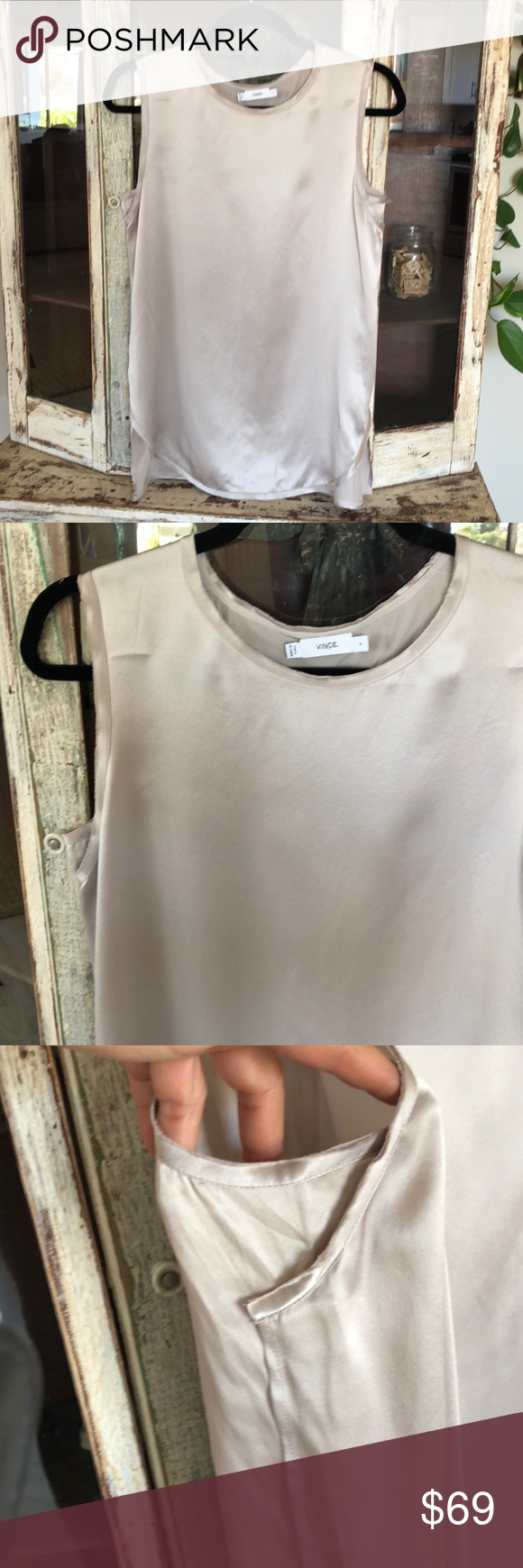 628a379c63686a Vince silk tank blouse New without tags it is a very pale of lavender Vince  Tops