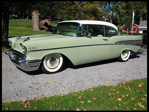 1957 Chevrolet Bel Air Larger Wheels Lowering Solution To
