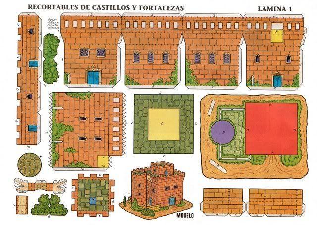 Todorecortables sue os de papel castillos recortables - Manualidades castillo medieval ...