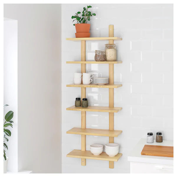 VÄRDE Wall shelf birch in 2020 Ikea wall shelves, Wall