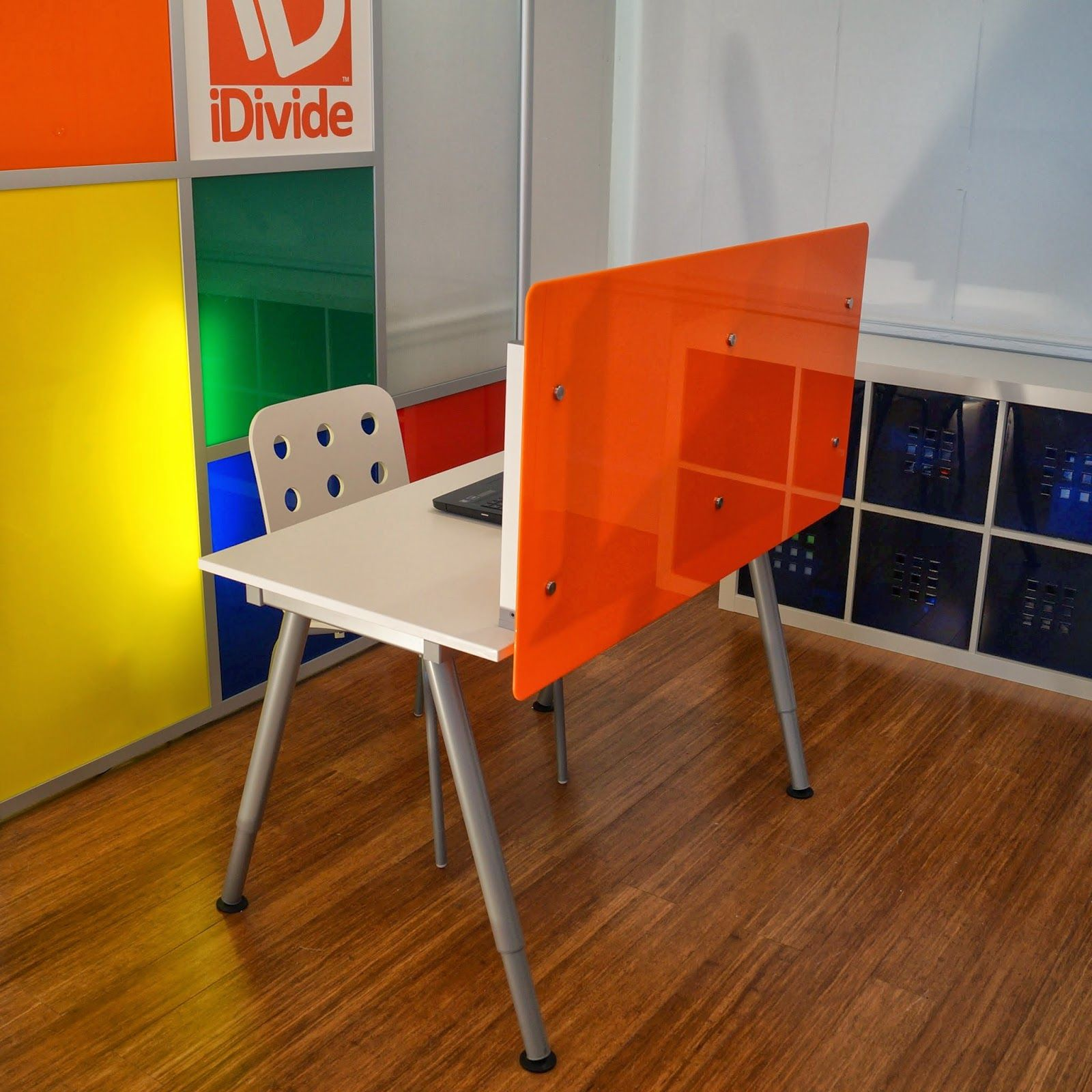 Deskdivide new product from idivide desk dividers