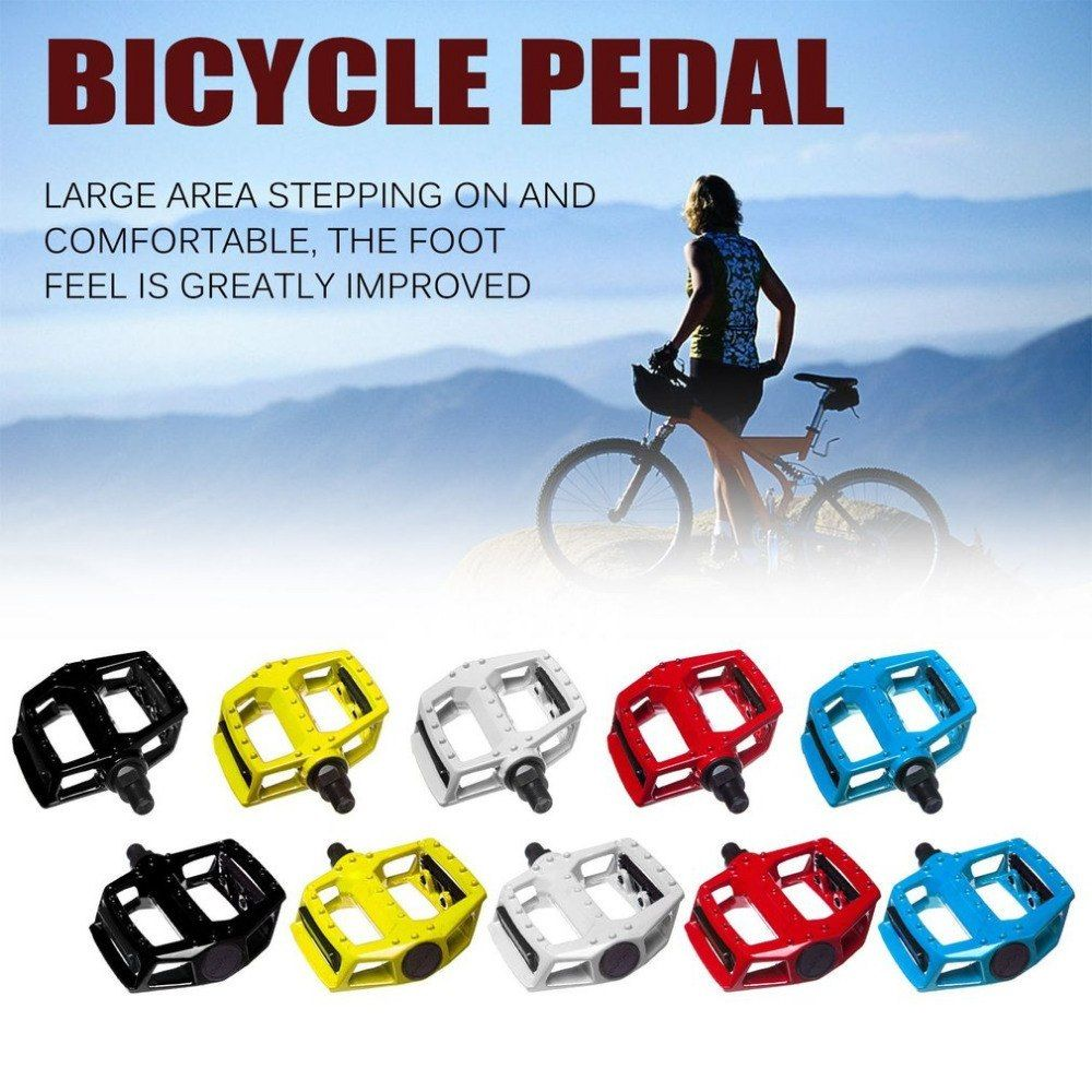 Mountain Bike Pedal Bicycle Sealed Bearing Pedals Aluminum Alloy Anti-skid Pins