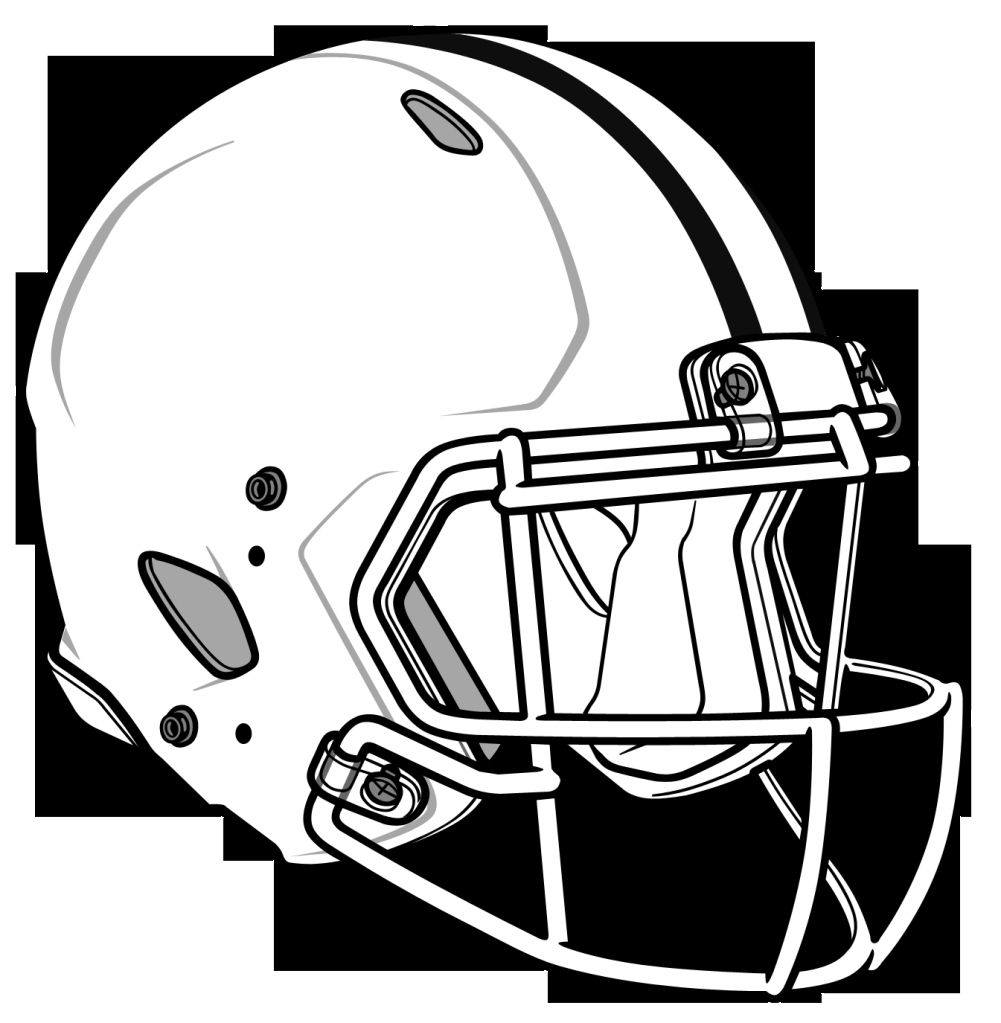 30 Coloring Pages College Football Helmets Football Helmets