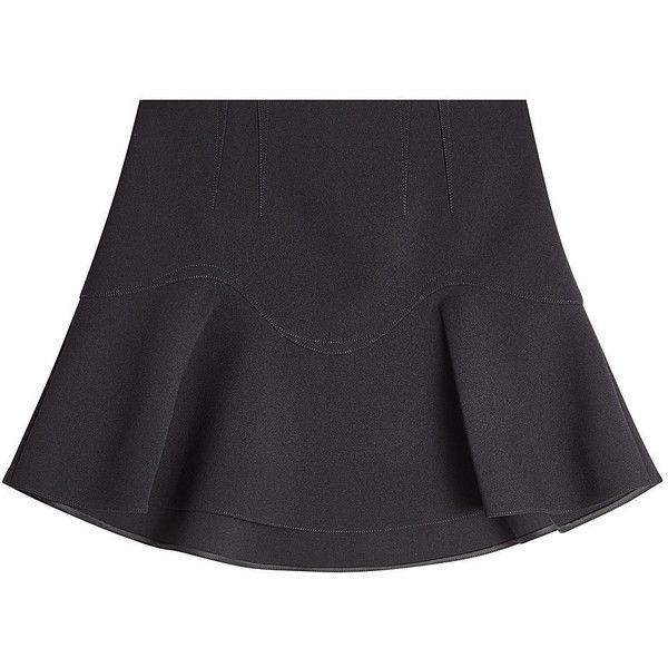 Alexander Wang Flared Skirt (29,800 PHP) via Polyvore featuring skirts, black, flared skirt, short skater skirt, flare skirt, knee length flared skirts and flared skater skirt