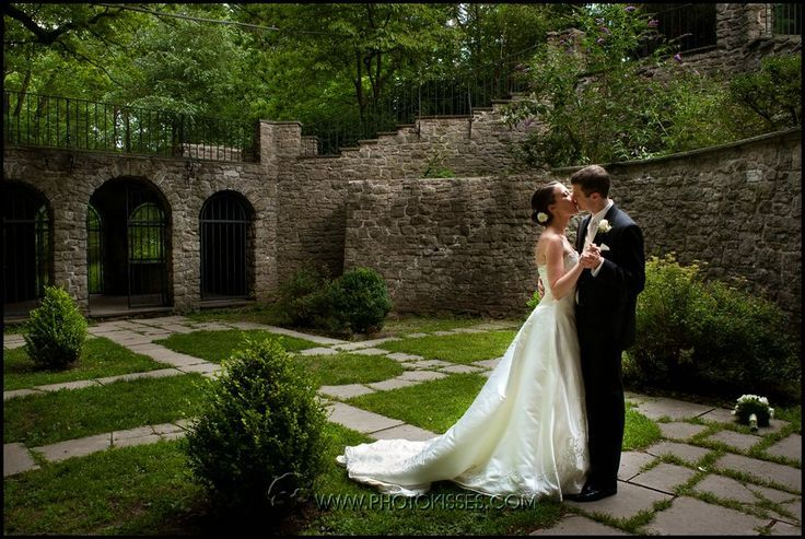 Wedding Photos In The Sunken Gardens Of Highland Park