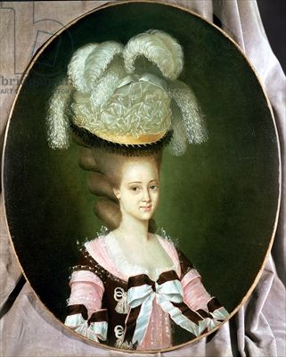 Portrait of a Lady in a Hat, Mulnier, J. (c.1755) / Rafael Valls Gallery, London, UK / The Bridgeman Art Library