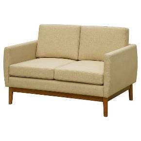 Amazing Paramus Mid Century Loveseat Oatmeal Heather Threshold Pdpeps Interior Chair Design Pdpepsorg