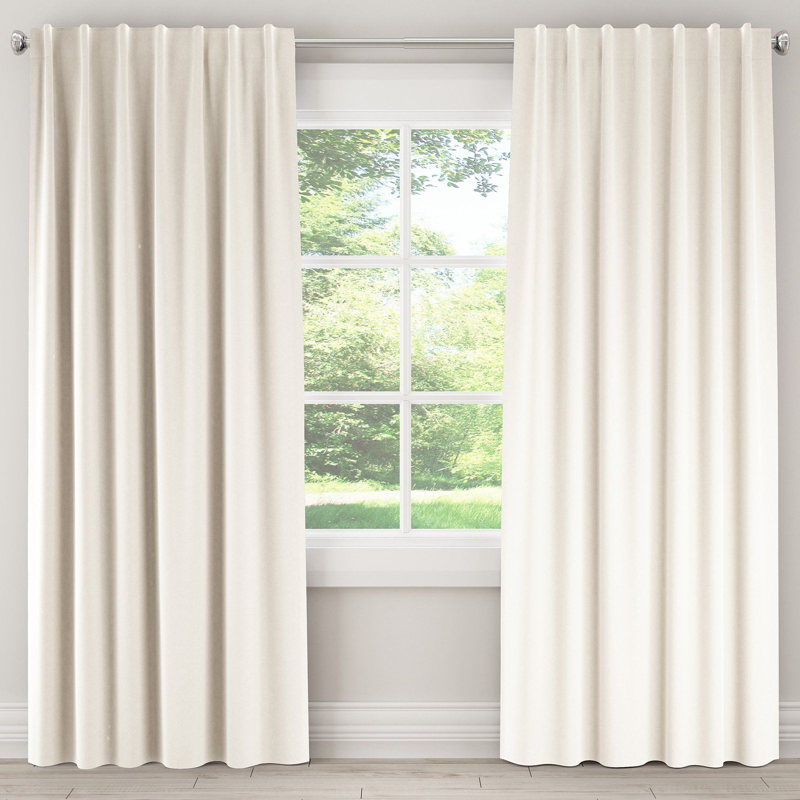 Skyline Furniture Velvet Unlined Single Panel Curtain Cool Curtains White Paneling White Curtains