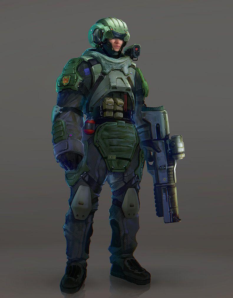 soldier by inzvy.deviantart.com on @DeviantArt