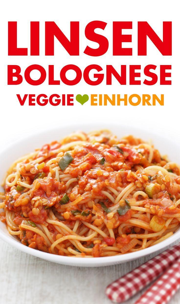 Vegane Bolognese mit roten Linsen ▶ Schnelles Feierabend Rezept ▶ Lecker und gesund ▶ Vegetarisch
