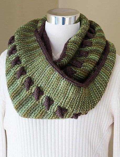 Knitting pattern for Reversible Cowl | Scarf knitting ...