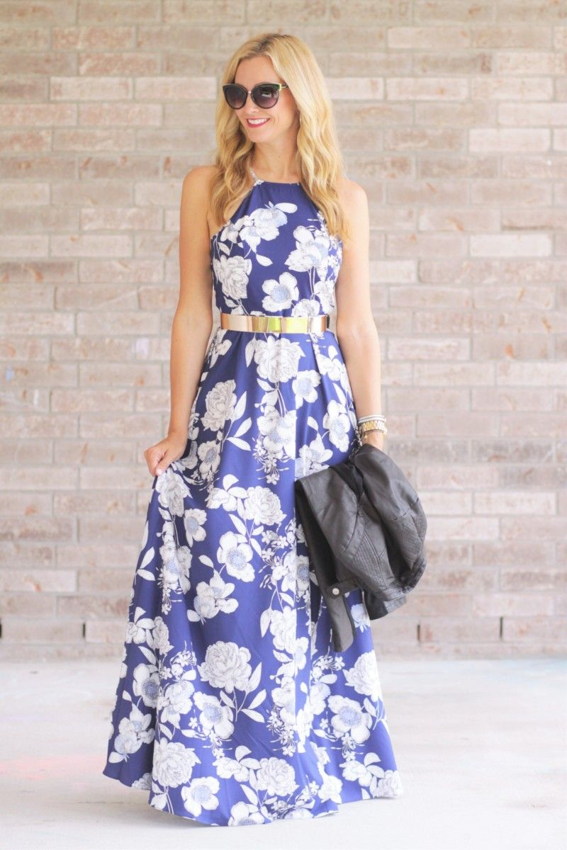 Dress with jacket for wedding  Fall Floral Dress and Leather Jacket  Leather jackets Wedding