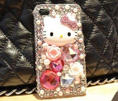 3D Handmade Rose Bow Hello Kitty Bling Case Cover Skin for Apple iPhone 5 5g | eBay